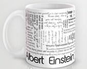 Large Ceramic Mug Albert Einstein Quotes Coffee or Tea 11 0r 15 Ounce Gift, Graduation