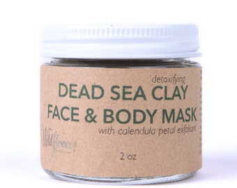Face Mask // Dead Sea Clay Detoxifying Mask // Calendula