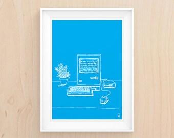 Work it Retro Style - Illustration - Printable Art (BONUS 2 for 1)