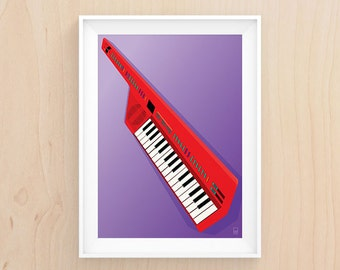 Keytar My Heart - Illustration - Printable Art