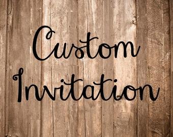 Custom Birthday Invitation First 1st Birthday
