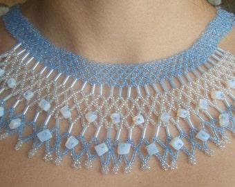 Moonstone and beads handmade neacklace