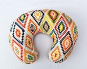 Colorful aztec nursing pillow cover