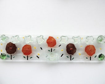 Fused glass Chanukia,fused glass Hanukkia,painted Hannukia,jewish home,jewish gift