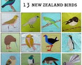 Complete Collection NZ Paper Piece Bird Patterns