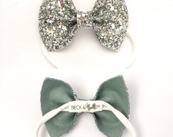 One size fits most//nylon//glitter//headband