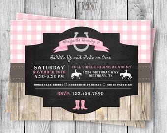 Horseback Riding Birthday Invitation - 5x7