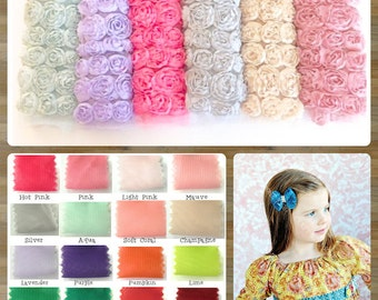 6 Row Chiffon Rosette Trim-By The Yard