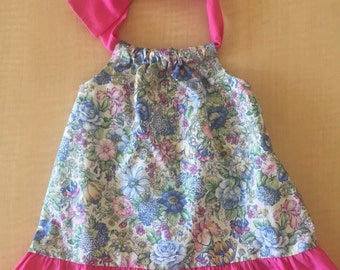 Pink Floral Handmade Baby Dress Size 2T