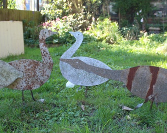 Up cycled Geese and Gander