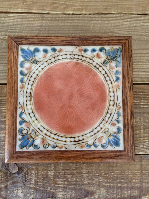 Vintage Ceramic Tile Footed Trivet
