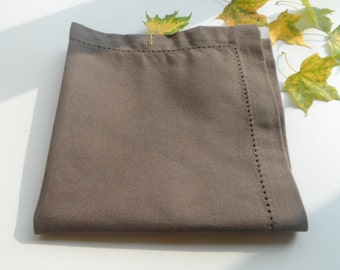 Brown Dinner Napkins set of 10. Brown napkins 15.5'' x 15.5'' Cloth napkins. Dinner napkins.