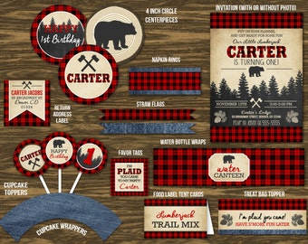 Plaid Logger Ultimate Party Package - Printable