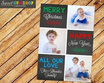 Christmas Card Style 2 - Chalkboard - Printable