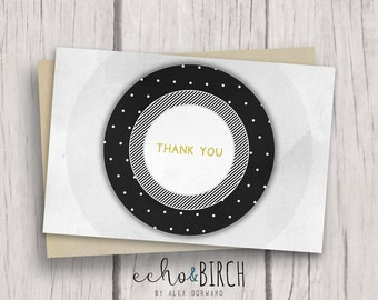 """PRINTABLE Blank Thank You Card   4x6""""   Instant Download   Printable Stationery"""