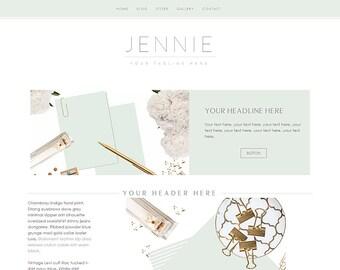 "Website Template - Website Design - Premade Website - ""Jennie"" Photography Website"