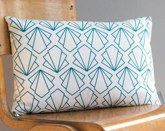 Sunbeam Turquoise Cushion - handmade cushion - home decor - fabric pillow - patterned cushion - blue cushion - geometric pillow