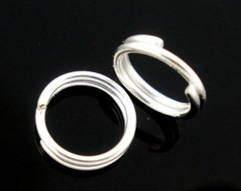 150 - 5mm  Double Loop Silver Plated Jump Rings