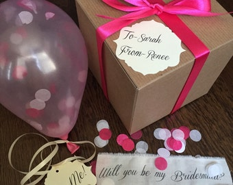 Pearl Pink- Will you be my bridesmaid? Pop the balloon to reveal your message