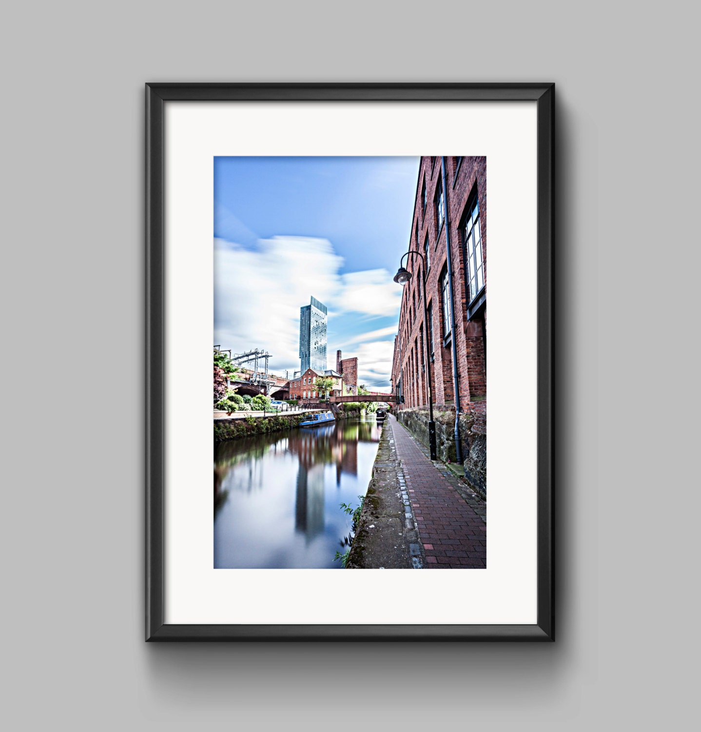 Line Art Rochdale : Colour landscape photograph of the rochdale canal fine art