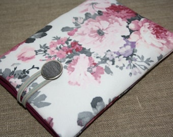 Kindle Voyage Cover, Kindle Paperwhite, iPad Mini Case Padded Sleeve eReader Cover  sony Xperia M4  - Vintage Flowers