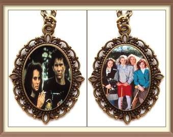 Heathers Inspired Cameo Necklace  / Winona Ryder / Christian Slater / Cult Classic