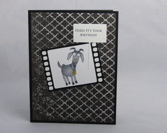 Stampin Up Handmade Birthday Greeting Card: From the Herd, Masculine,  Teenager, Teen, Son, Husband, Father, Grandfather Funny Co-Worker