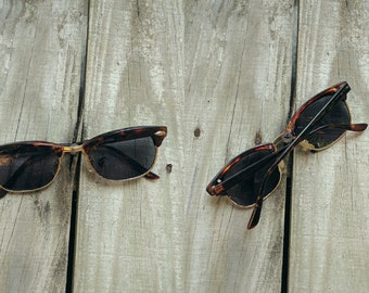Tortoise Shell Wayfarers. Tortoise Shell Glasses. Wayfarer Sunglasses. Vintage Wayfarers. Vintage Sunglasses.