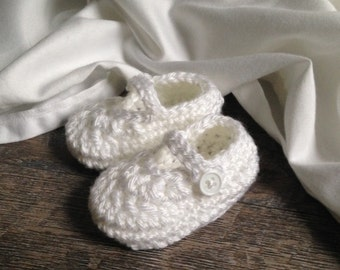 Christening Shoes, Boy Christening Shoes, Girl Christening Shoes, Newborn Crochet Booties, Handmade Crochet Booties,