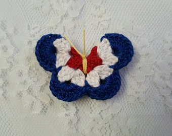 Tri-Color Butterfly Magnet
