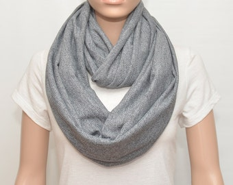 Gray Infinity Scarf, gray scarf, heather gray scarf, heather gray infinity scarf,nursing scarf, nursing cover