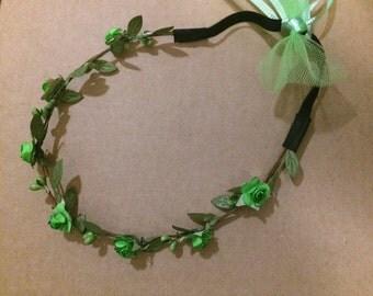 "Tinkerbell Flower Halo ""Crown"" Headband"