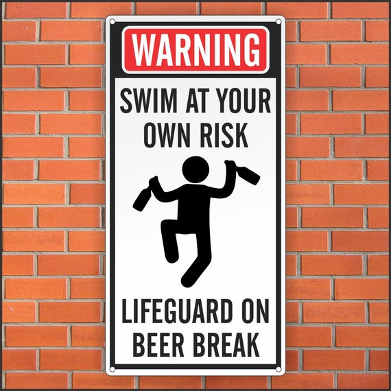 Funny Pool Sign Funny Lifeguard Sign 12 X 24