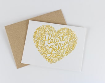 Heart of Gold Card