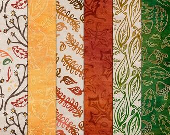 Fall Autumn Digital Paper - Autumn Texture Leaves Maple Acorn Background Paper - Digital Scrapbook - Printable - 12x12 - Instant Download
