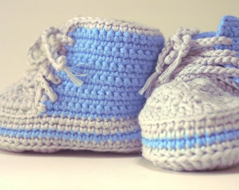 Baby Booties, Boots, Shoes, Steel Blue,
