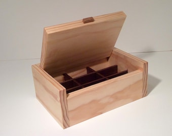 A Hand Crafted Wooden Jewelry Box, Valet Box, Keepsake Box