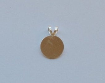 Silver-plated Bails - 13mm Round Glue-On Bail for Pendants