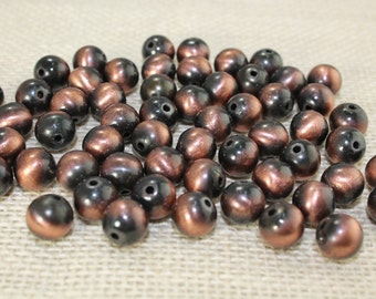 10mm Copper Round Beads (28 Pieces)