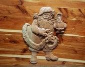 Santa Claus Wooden Sign -...