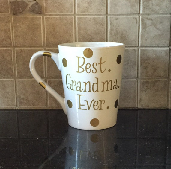 Best Grandma Ever Coffee Mug In White And Gold By