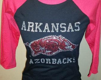 Arkansas Razorback- Baseball Tee