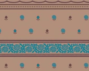 """Tissue Paper Gift Wrap Wrapping Paper Mocha Tapestry Paisley Printed Teal Designs Colourfast (Pack of 5) 30x20"""" / 750x500mm"""