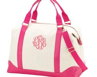 Personalized Weekender Bag-Sullivan Pink