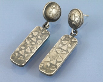 Sterling Silver Geometric handmade earrings