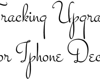 tracking upgrade for iphone decal