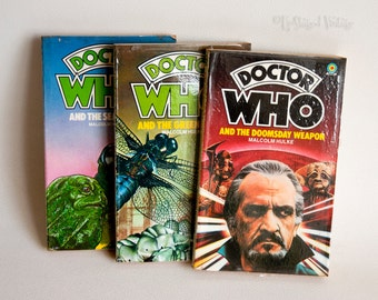 DOCTOR WHO 3 x Malcolm Hulke Novels: Sea Devils, Green Death & Doomsday Weapon