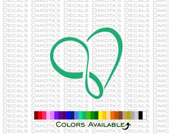 Pretty Infinity Heart Decal