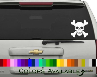Skull and Crossbones Car Decal