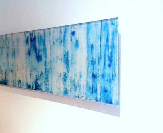 wall art plexiglass floating acrylic glass light blue. Black Bedroom Furniture Sets. Home Design Ideas